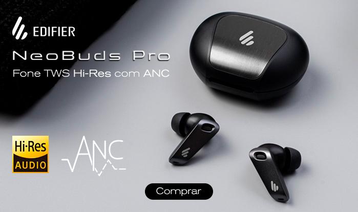 Fone TWS com cancelamento de ruído NeoBuds Pro Hi-Res