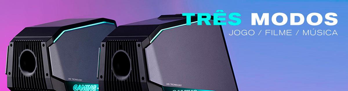 caixa de som com multiplas entradas para PC