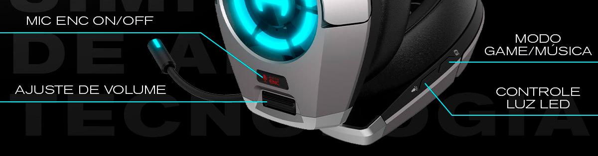 conexões do headset gamer