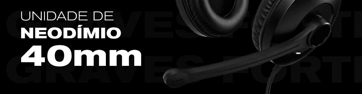 headset comunicador com driver de 40mm