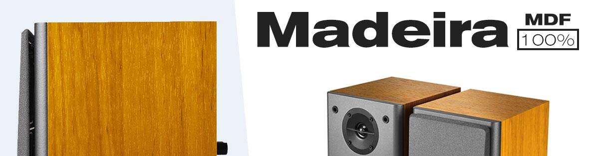 caixa de som de madeira