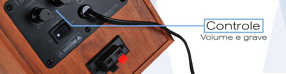 caixa de som com equalizador