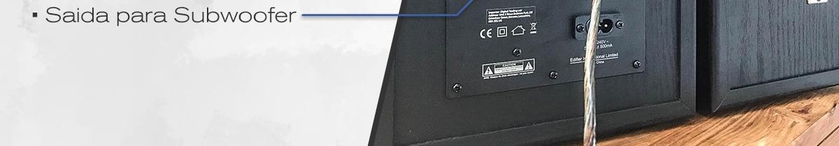 caixa de som optica e coaxial