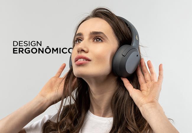 Fone de ouvido com design ergonômico